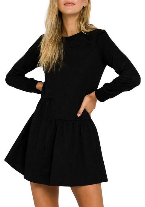 ENGLISH FACTORY Womens Knit Unbalanced Seam Dress