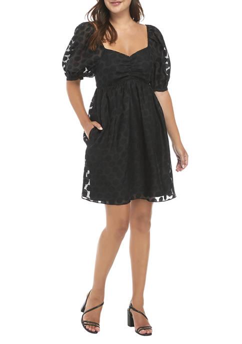 Womens Dotted Mini Dress