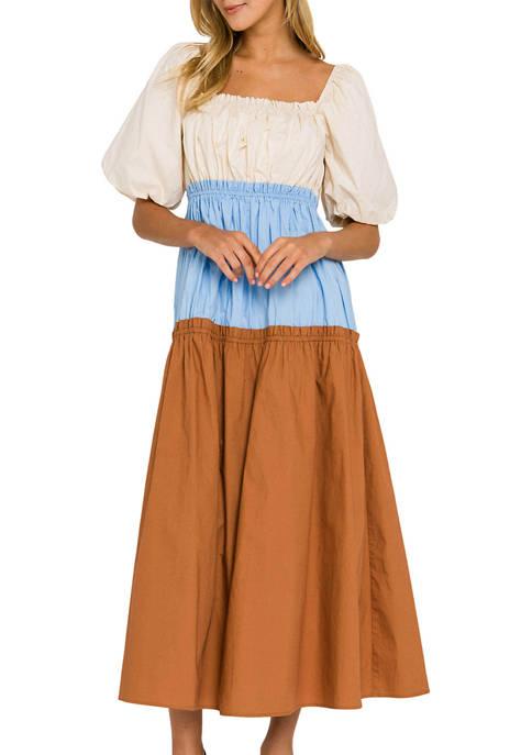 ENGLISH FACTORY Womens Color Block Dress