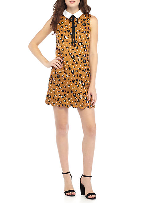 Sleeveless Leopard Print Dress