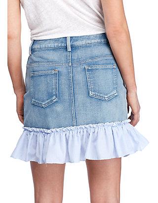 cheap price reputable site buy good Ruffled Hem Denim Skirt