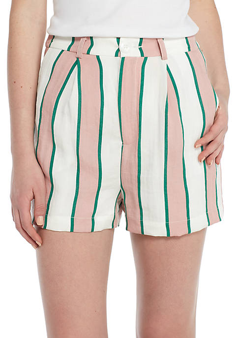 ENGLISH FACTORY Pleated Stripe Shorts