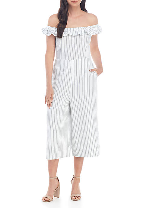 ENGLISH FACTORY Ruffle Off the Shoulder Jumpsuit