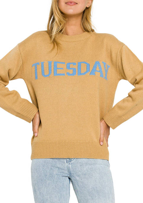 ENGLISH FACTORY Womens Monday Motif Sweatshirt