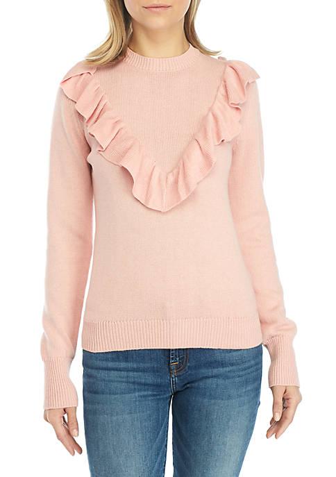 Long Sleeve Ruffle Sweater
