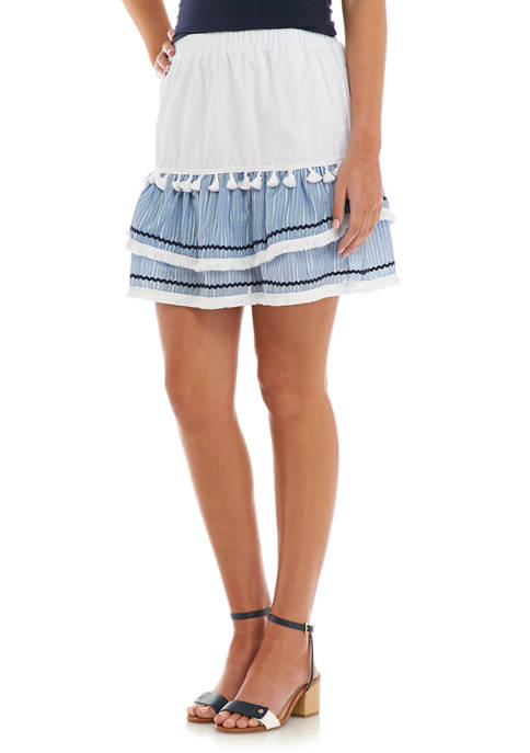 Womens Tasseled Mini Skirt