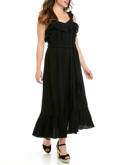 Womens Gauze Maxi Dress