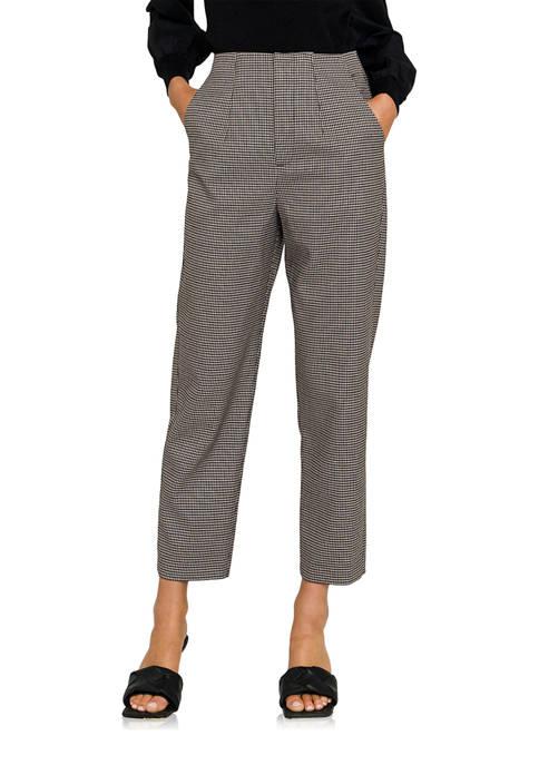 ENGLISH FACTORY Womens Check Pants
