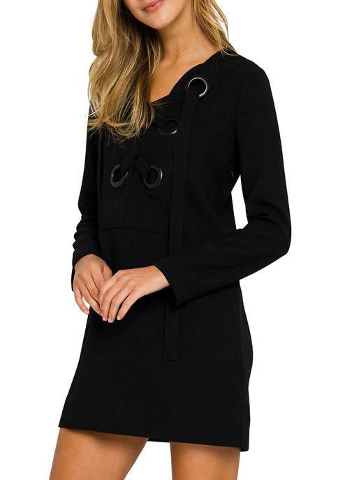 Womens Front Lace Up Dress