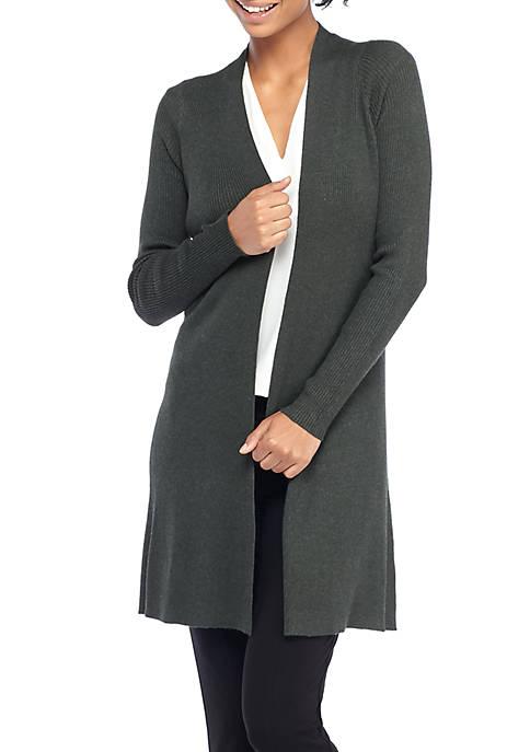 Long Sleeve Ribbed Cardigan