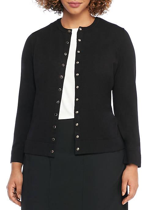Plus Size Lace Back Cardigan