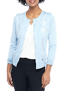 Lace Inset Cardigan