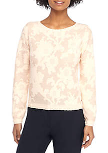 Jacquard Floral Pullover