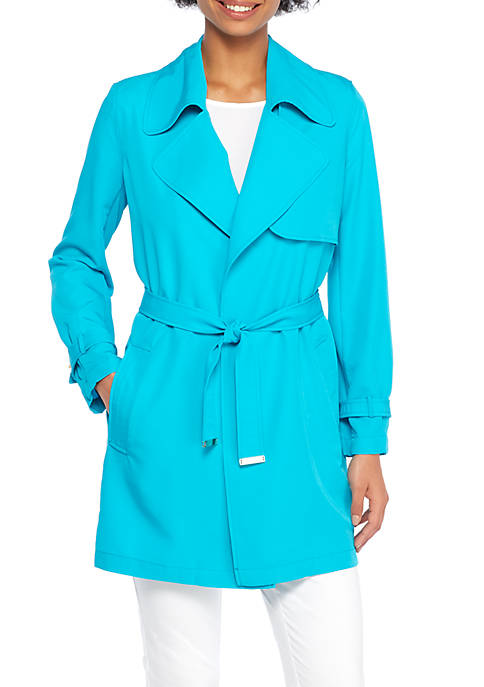THE LIMITED Long Sleeve Belted Trench Coat