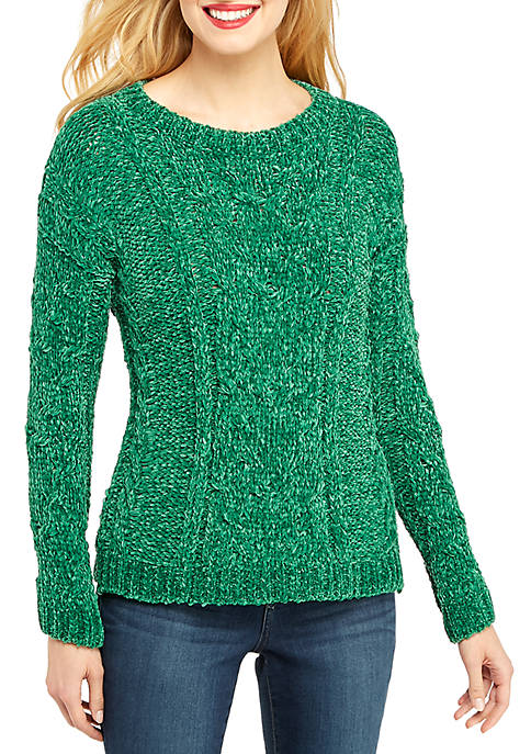 Chenille Cable Front Pullover