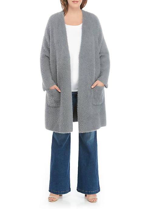 Plus Size Eyelash Cardigan