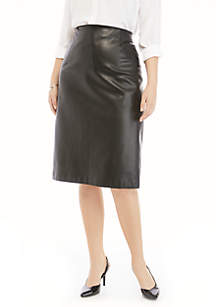 THE LIMITED Plus Size Midi Faux Leather Skirt