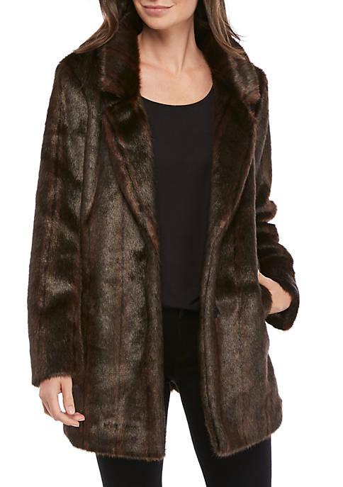 Womens Faux Mink Jacket