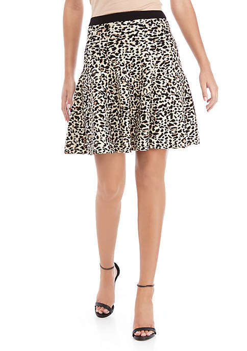 Womens Sweater Leopard Skirt