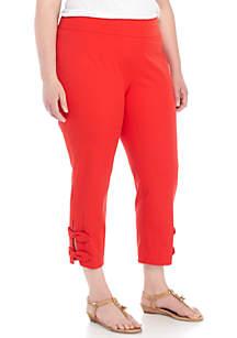 Plus Size Knot Bi-Stretch Pants