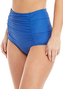 Crown & Ivy™ High Waisted Tummy Control Swim Bottoms