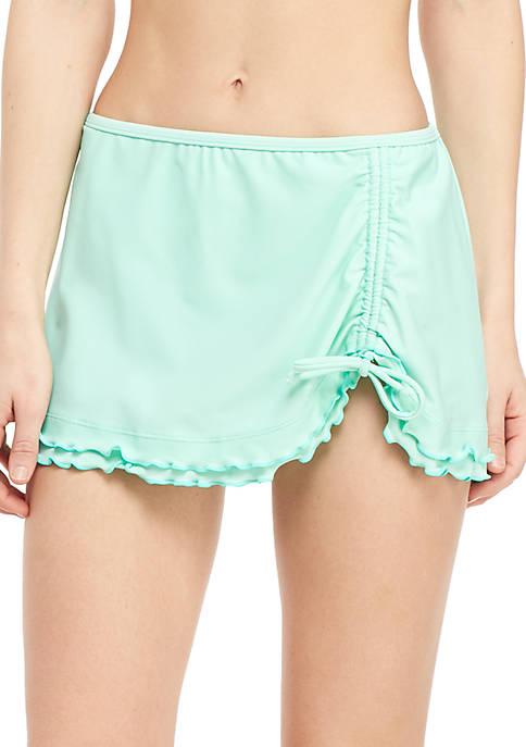 Crown & Ivy™ Solid Swim Skirt