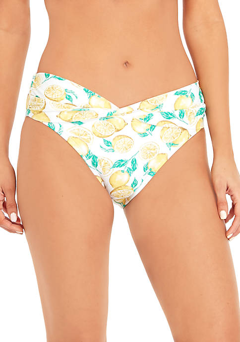 Crown & Ivy™ Lemon Squeeze Hipster Swim Bottoms