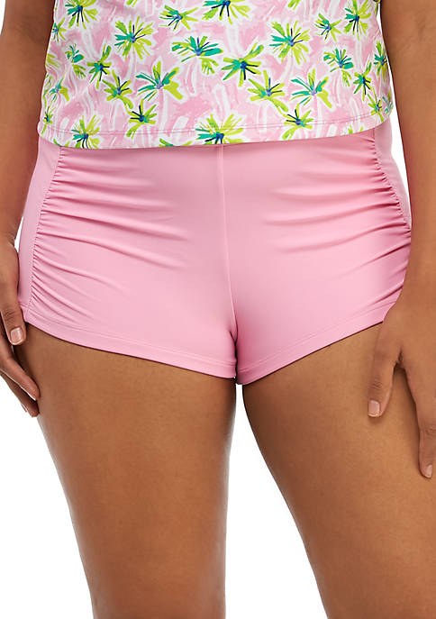 Crown & Ivy™ Plus Size Solid Swim Shorts