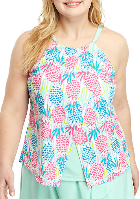 Crown & Ivy™ Plus Size Pineapple Wave High