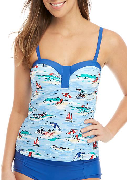 Beach Day Molded Swim Tankini