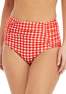 Crown & Ivy™ Gingham High Waisted Swim Bottoms