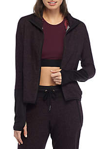 Static Terry High Low Jacket