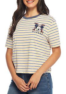 Short Sleeve Mickey Stripe Tee
