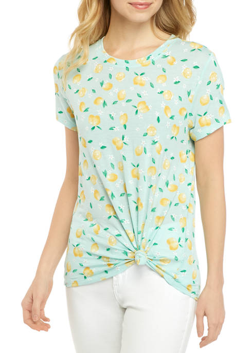 Cold Crush Juniors Side Knot Lemon Conversational Graphic
