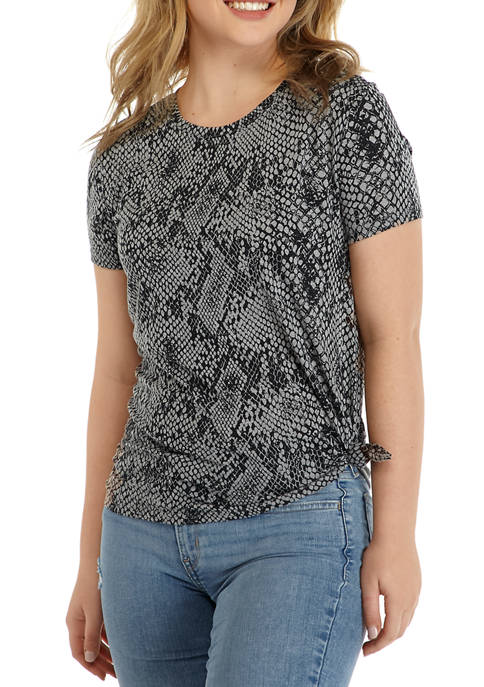 Cold Crush Juniors Short Sleeve Python Conversational Shirt