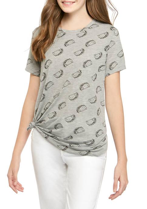 Cold Crush Juniors Taco Conversational Graphic T-Shirt