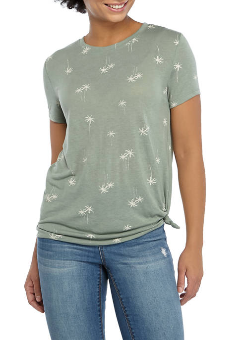 Cold Crush Juniors Side Knot Palm Tree Graphic