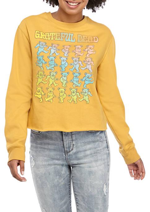 Juniors Long Sleeved Crop Grateful Dead Graphic Sweatshirt