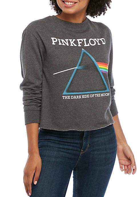 ACDC Juniors Long Sleeve Cropped Pink Floyd Sweatshirt
