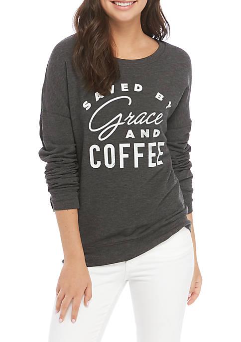 Cold Crush Long Sleeve Yummy Fleece Coffee T-Shirt