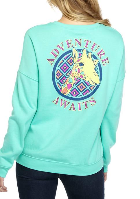 Benny & Belle Juniors Adventure Giraffe Fleece Top