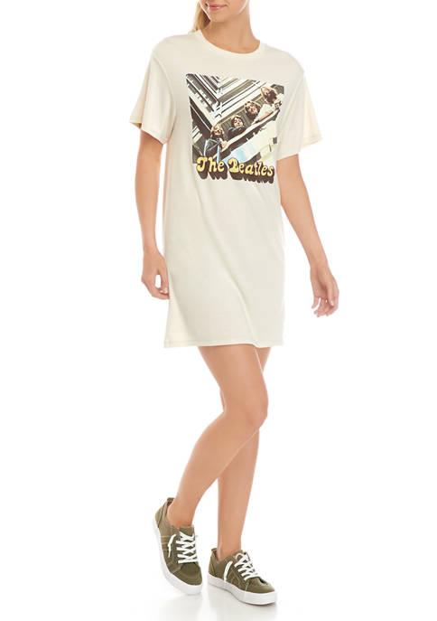 Juniors Short Sleeve Beatles Tunic Graphic Dress