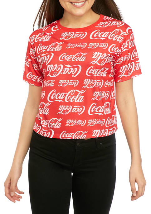 Coca-Cola Juniors Short Sleeve Skimmer Coke Allover Graphic
