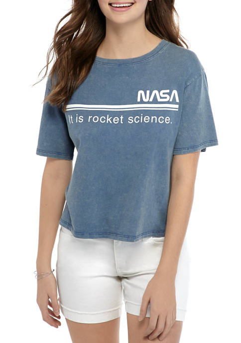 Cold Crush Juniors Short Sleeve NASA Skimmer Graphic