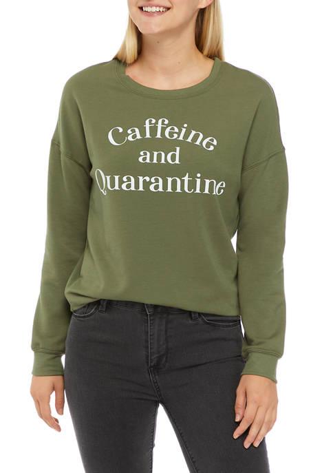 Cold Crush Juniors Drop Shoulder Caffeine and Quarantine