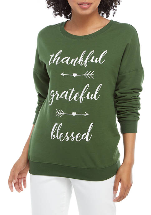 Cold Crush Juniors Fleece Thankful Grateful Blessed Pullover