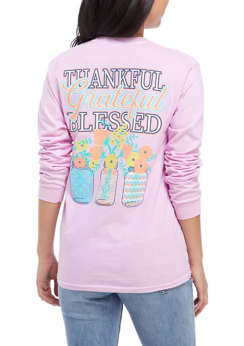 Juniors Long Sleeve Graphic T-Shirt