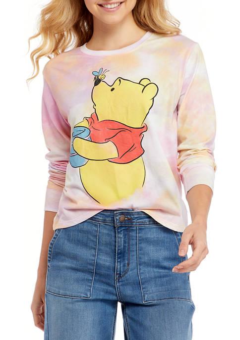 Disney® Juniors Long Sleeve Pooh-Bear Graphic Skimmer Top