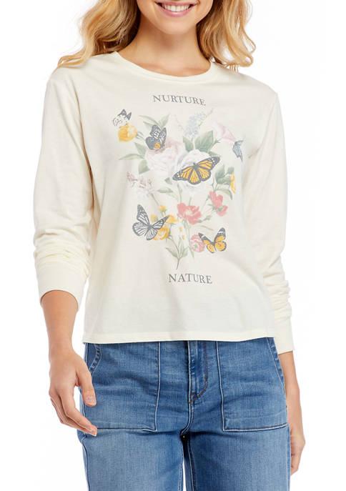 Juniors Butterfly Skimmer Top
