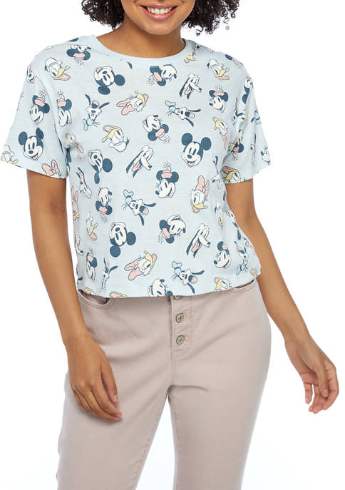 Disney® Juniors Short Sleeve Mickey Skimmer Shirt